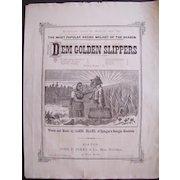 1879 Sheet Music Dem Golden Slippers