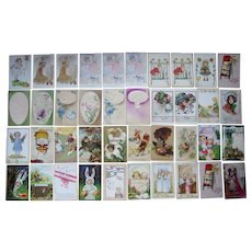 Lot 40 Easter Postcards 1900s/1910s #2