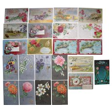 Lot 23 Months of the Year Postcards 1900s/1910s