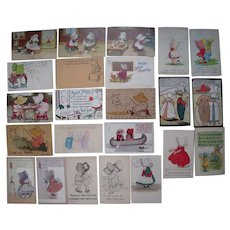 Lot 23 Misc Sunbonnet Postcards 1900s/1910s