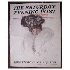Harrison Fisher Cover Saturday Evening Post March 1907