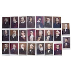 Lot 23 Artist Signed Authors Postcards 1900s/1910s from Tucks Men of Letters Series