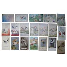 Lot 19 Stork Postcards 1900s/1910s