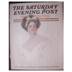 Harrison Fisher Cover Saturday Evening Post March 1908