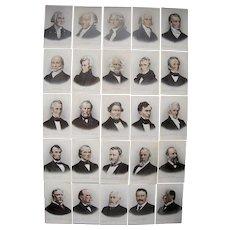 Complete Set 25 Postcards of US Presidents (Washington thru Teddy Roosevelt)