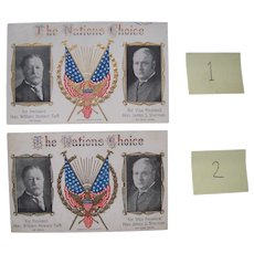 1908 Taft/Sherman Presidential Election Postcard (2 available)