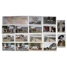Lot 17 Color Ezra Meeker (Oregon Trail) Postcards c1910
