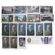 Lot 19 Postcards of President Woodrow Wilson c1910s (incl 1 RPPC)