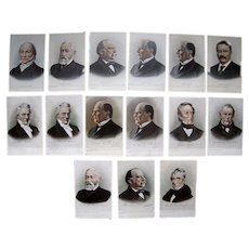 Lot 15 Postcards Portraits of Misc US Presidents 1900s/1910s.