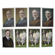 Lot 8 Postcards, Presidents Warren Harding and Herbert Hoover c1920s
