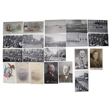 Lot 21 Postcards of Misc Presidents and Politicians Mainly 1900s/1910s