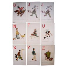 Lot 9 English Alphabet Postcards 1900s