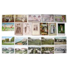 Lot 22 Tennis Postcards Mostly c1910s