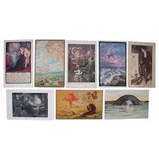Lot 8 Fantasy Postcards c1900s/1910s,