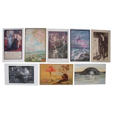 Lot 8 Fantasy Postcards c1900s/1910s,