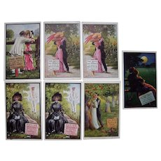 "Lot 7 Artist Signed Wall ""Take Notice Series"" Postcards, c1910s"