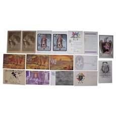 Lot 16 Misc. Fraternal Organization Postcards Mostly c1910