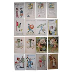 Lot 16 Postcards Postman, Mailboxes, etc Mainly 1910s #2