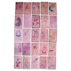 Lot 25 Leather Postcards c1900s #1