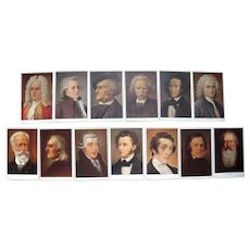 Lot 13 1910s German Postcards Portraits of Musicians