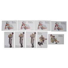 Lot 9 1958 Norman Rockwell Red Rose Tea Advertising Postcards