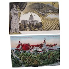 Lot 12 California Postcards c1910 (Mainly Los Angeles)
