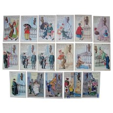 Lot 17 Comic European Water Fountain Postcards c1910s/1930s