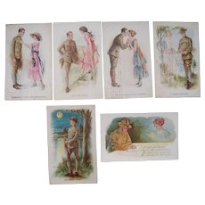 Lot 6 Artist Signed Archie Gunn WWI Postcards