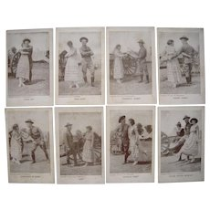 Lot 8 1917 Comic Postcards WWI Soldiers