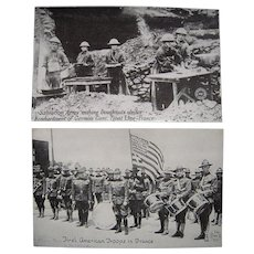 Lot 14 WWI Postcards Troops in France