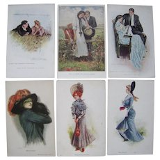 Lot 6 c1910 Clarence Underwood/Archie Gunn Glamour Girl Postcards