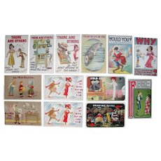 Lot 13 Artist Signed Carmichael Comic Postcards, c1910s