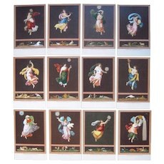 Set 12 Raffaello Italian Art Postcards c1906