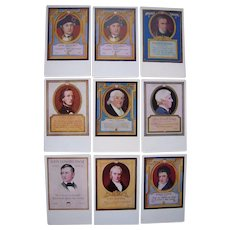 Lot 9 1910s Sayings from Famous People Postcards (Walk-Over Shoes Advertising)