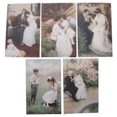 Lot 5 C. Clyde Squires Artist Signed Postcards c1910s
