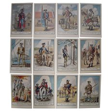 Lot 12 Artist Signed Larter Postcards of Ft. Ticonderoga, NY  1947