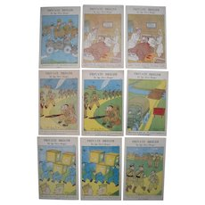Lot 9 Comic WWII Private Breger Postcards from 1943