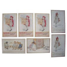 Lot 7 Artist Signed C.M. Burd Postcards of Children, 1916