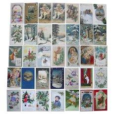 Lot 35 Christmas Postcards 1900s/1910s #4
