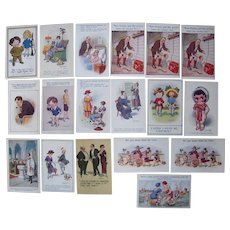 Lot 18 Artist Signed Don McGill Postcards 1910s.
