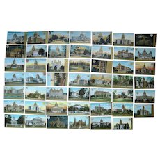 Lot 48 c1910 State Capitols (Complete Set) Postcards