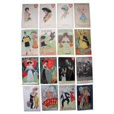 Lot 16 Leap Year Postcards (Mostly 1908 and 1912) #1