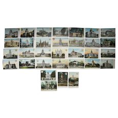 Lot 32 Different State Capitol Postcards c1910