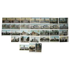 Lot 31 State Capitol Postcards c1910