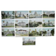 Lot 13 State Capitol Postcards c1910