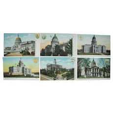 Complete Set 47 Postcards State Capitols pre 1910 #2