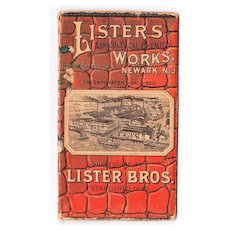 1888 Advertising Booklet (w/Black People inside Watermelon) Lister's Agricultural Chemical Works Newark NJ