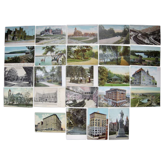 Lot 24 postcards c1900s/1910s of Scranton, PA