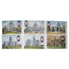 Complete Set 45 Postcards State Capitols pre 1910 #3 (Tuck's Oilette)