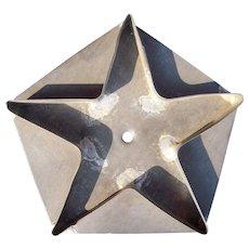 1800s Kitchen Primitive 5 Inch Star on Pentagon Cookie Cutter